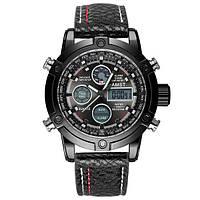 Наручные мужские часы AMST 3022 All Black Fluted Wristband