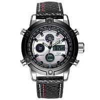 Наручные мужские часы AMST 3022 Silver-Black-Silver Fluted Wristband