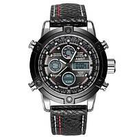 Наручные мужские часы AMST 3022 Silver-Black Fluted Wristband