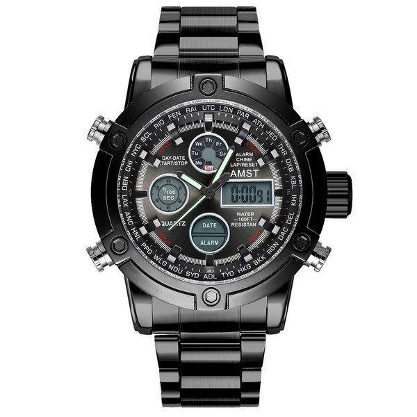 Наручные мужские часы AMST 3022 Metall All Black