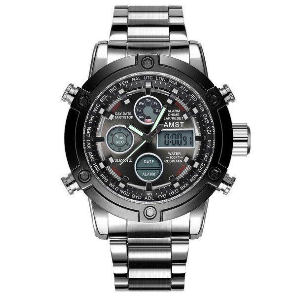 Наручные мужские часы AMST 3022 Metall Silver-Black