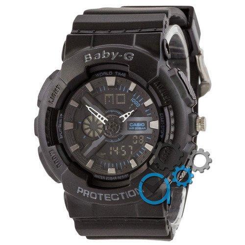 Наручные мужские часы Casio Baby G GA-110 G Black-Black-Blue