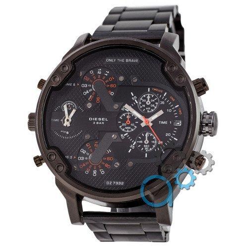 Наручные мужские часы Diesel DZ7314 Steel All Black-Orange