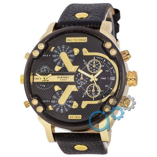 Наручные мужские часы Diesel DZ7314 Black-Gold-Black