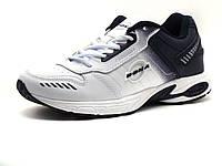 Кроссовки Bona унисекс, кожаные, белые/ черные, фото 1
