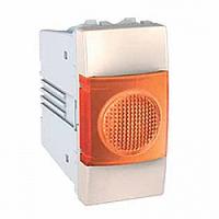 Индикатор оранжевый 1-модульный Слоновая кость Schneider Electric Unica (MGU3.775.25A), фото 1