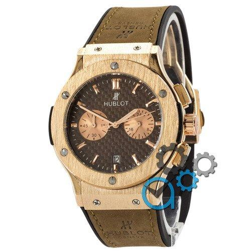 Наручные мужские часы Hublot Classic Fusion Quartz Brown-Gold-Brown