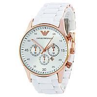 Наручные мужские часы Emporio Armani Silicone Gold-White