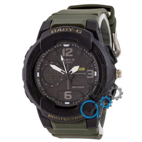 Наручные мужские часы Casio Baby G BGA-230 G Black-Militari Wristband