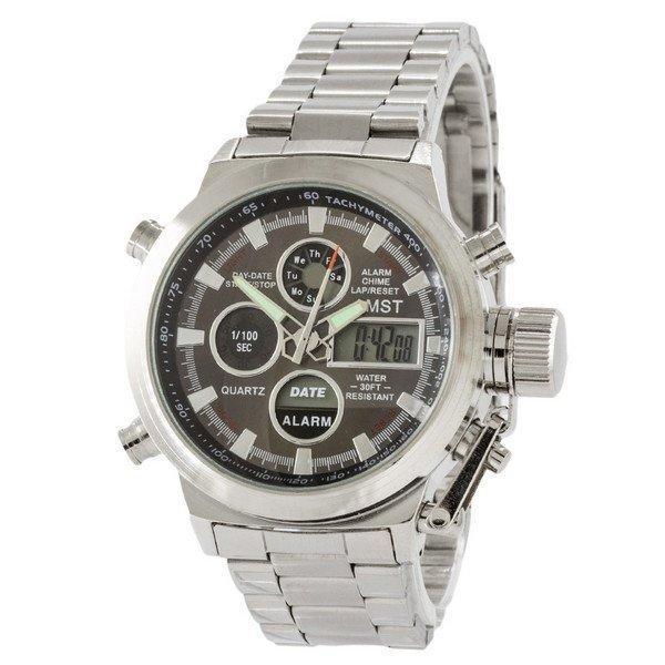 Наручные мужские часы AMST Metall Silver-Black