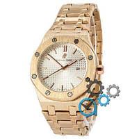 Наручные мужские часы Audemars Piguet Royal Oak Quartz Gold-White