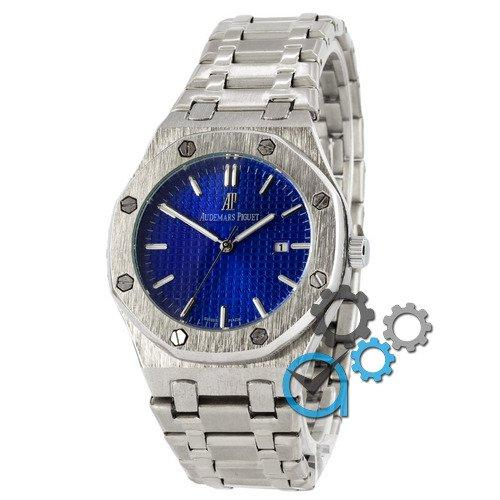 Наручные мужские часы Audemars Piguet Royal Oak Quartz Silver-Blue