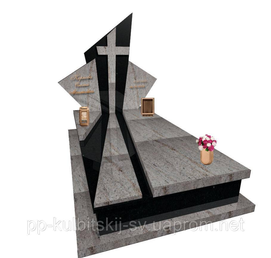 """Пам'ятник гранітний елітний """"Промені"""" L0153"""