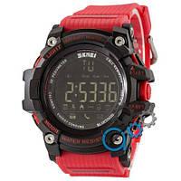 Наручные мужские часы Skmei 1227 Black-Red Wristband