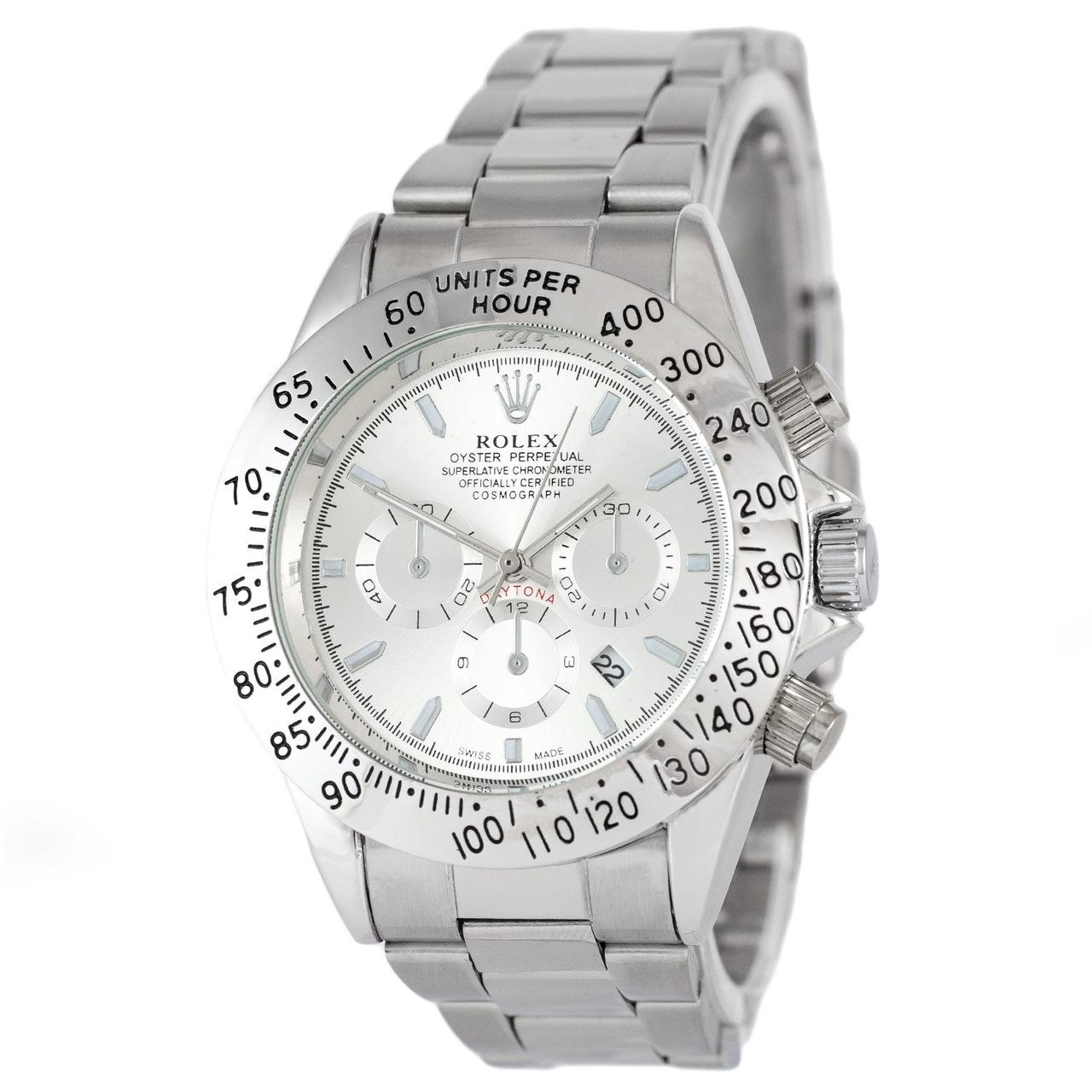 Наручные мужские часы Rolex Daytona Quartz Date All Silver
