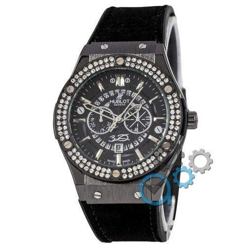 Наручные мужские часы Hublot 882888 Classic Fusion Crystal All Black