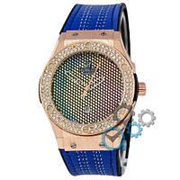 Наручные мужские часы Hublot 882888 Classic Fusion Blue-Gold