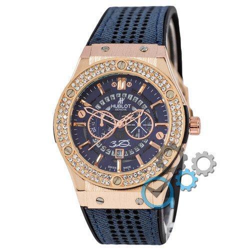 Наручные мужские часы Hublot 882888 Classic Fusion Blue-Gold-Blue
