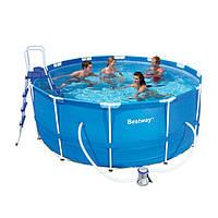 Каркасный бассейн Bestway 56420 (366 х 122 с картриджным фильтром)