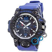Наручные мужские часы Casio G-Shock GWG-1000 Black-Blue Wristband