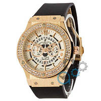 Наручные мужские часы Hublot 882888 Classic Fusion Black-Gold-White