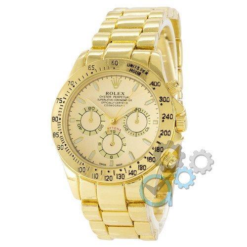 Наручные мужские часы Rolex Daytona Quartz All Gold New