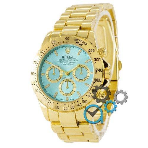 Наручные мужские часы Rolex Daytona Quartz Gold-Blue New