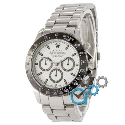 Наручные мужские часы Rolex Daytona Quartz Silver-Black-White New