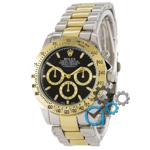 Наручные мужские часы Rolex Daytona Quartz Silver-Gold-Black New
