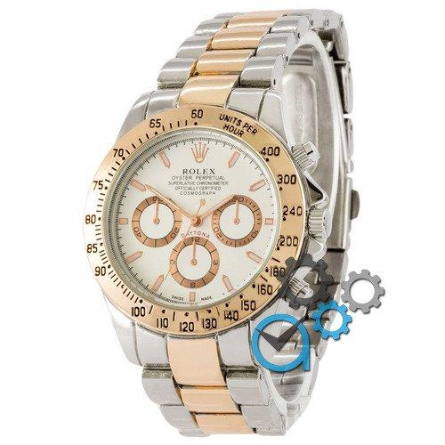 Наручные мужские часы Rolex Daytona Quartz Silver-Gold-Pink-White New