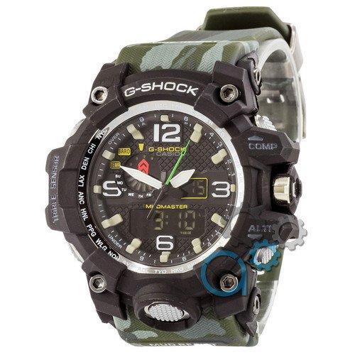 Наручные мужские часы Casio G-Shock GWG-1000 Black-Green Militari Wristband New