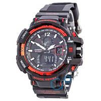Наручные мужские часы Casio G-Shock GW-A1100 Black-Red