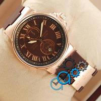 Наручные мужские часы Ulysse Nardin Lelocle Suisse Gold-Brown