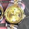 Наручные женские часы Rolex Date Just Silver-Gold-Gold