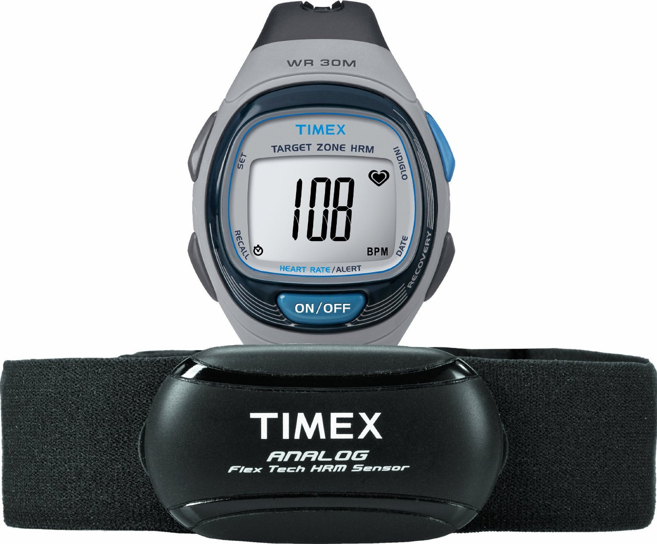 Годинник Unisex Timex Personal Trainer HRM Alarm Watch T5K738