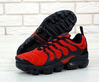 """Кроссовки мужские Nike Air Vapormax Plus """"Красные с черным"""" найк вапормакс р. 41-45, фото 1"""