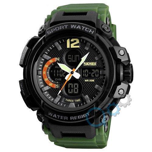 Наручные мужские часы Skmei 1343 Black-Militari Wristband