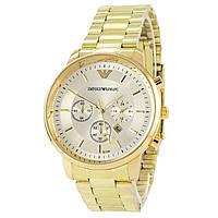 Наручные мужские часы Emporio Armani B134 Gold-Silver
