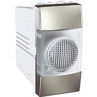 Индикатор бесцветный 1-модульный Алюминий Schneider Electric Unica (MGU3.775.30T), фото 1
