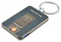 Спиральная электрическая USB зажигалка UKC 811 (Mercedes-Benz) темный металлик