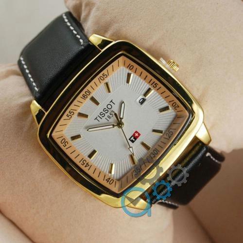 Наручные мужские часы Tissot 1853-2 Black-Gold-White
