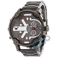 Наручные мужские часы Diesel DZ7314 Steel All Black-Gray-Orange