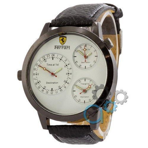 Наручные мужские часы Ferrari Men All Black-White