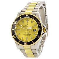 Наручные мужские часы Rolex Submariner Silver-Gold-Black-Gold