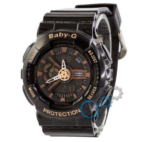 Наручные мужские часы Casio Baby-G GA-110 Black-Cuprum