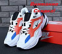 Кроссовки унисекс в стиле Nike M2K Tekno белые с разноцветными вставками