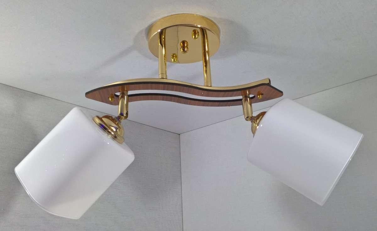 Люстра потолочная на 2 лампочки YR-6032/2-gd