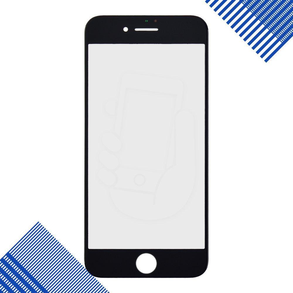 Стекло корпуса для iPhone 8, цвет черный