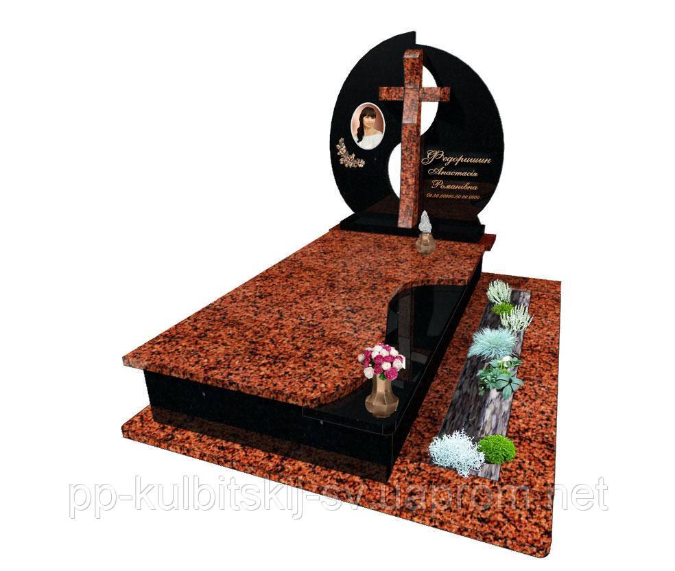 Одинарний пам'ятник гранітний Е0176