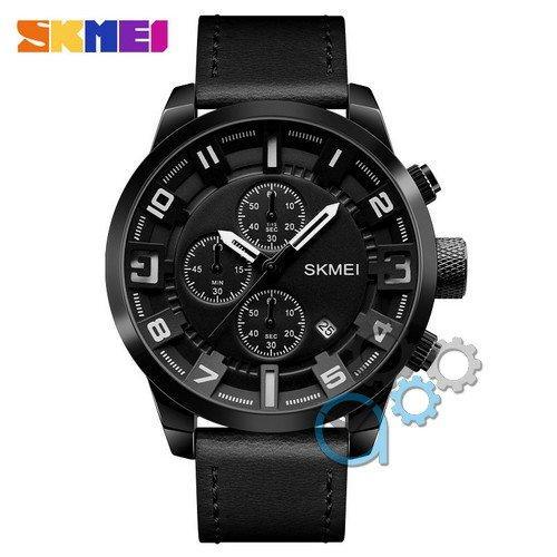 Наручные мужские часы Skmei 1309 All Black-White